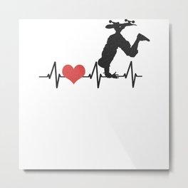 My Heart Beats For The Skateboard Metal Print