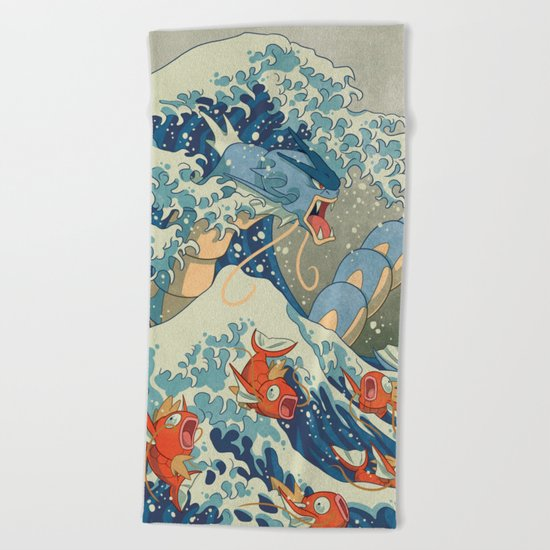 The Great Wave Beach Towel