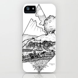 In a hole in the ground... iPhone Case