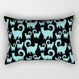 BLUE SNOBBY CATS Rectangular Pillow