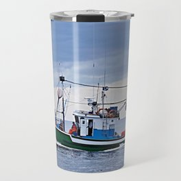 Traditional fishing boat off Tenerife in the Canary Islands Travel Mug