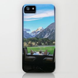Dinner by the Mountains iPhone Case