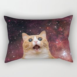 scaredy cat in space Rectangular Pillow