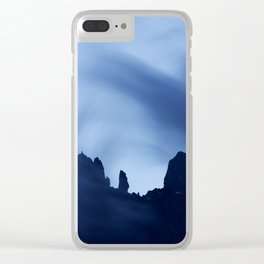 Mont Blanc Massif at night Clear iPhone Case