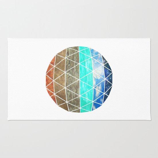 Elemental Geodesic  Rug
