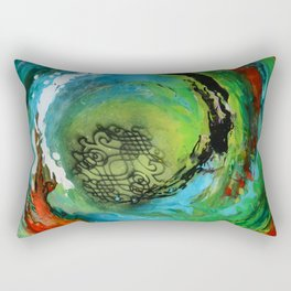 Maelstrom, captivating abstract painting Rectangular Pillow