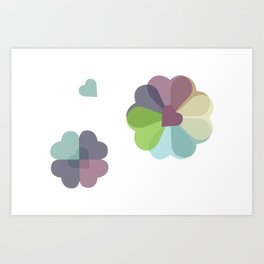 Heartflowers1 Art Print