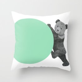 peppermint bear Throw Pillow