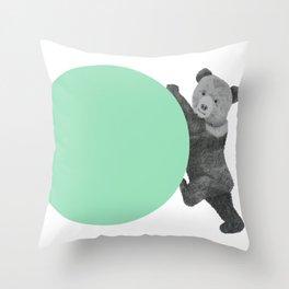 peppermint bear Throw Pillow