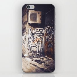 Lower East Side - Midnight Warmth on a Snowy Night iPhone Skin