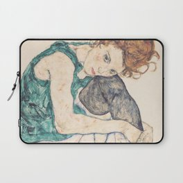 Egon Schiele [] Seated woman with legs drawn up Laptop Sleeve