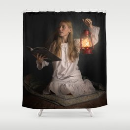Reading After Bedtime Shower Curtain