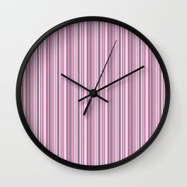 gray and pink striped . Wall Clock