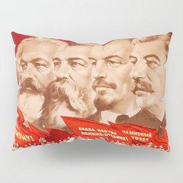 Marx, Engels, Lenin and Stalin, 1953 Propaganda Pillow Sham