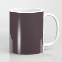 Solid Dark Charcoal Grey Color Coffee Mug