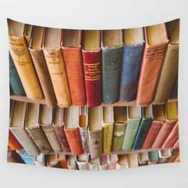 The Colorful Library Wall Tapestry