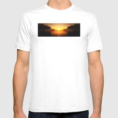 Pier Mirrored Sunset SMALL White Mens Fitted Tee