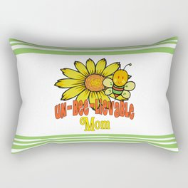 Unbelievable Mom Sunflowers and Bees Rectangular Pillow