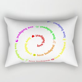 Love Budapest, icons, colors Rectangular Pillow