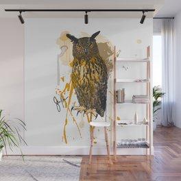 Brutus Eurasian Eagle Owl Wall Mural