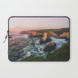 Golden California Coastline - Santa Cruz, California Laptop Sleeve