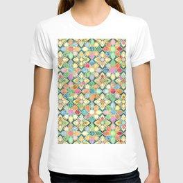 Gilded Moroccan Mosaic Tiles T-shirt