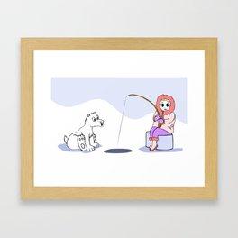Surprise in Christmas Time Framed Art Print