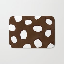 Hot Chocolate Print Bath Mat