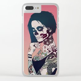 Snake Lady Clear iPhone Case