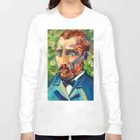 van gogh Long Sleeve T-shirts featuring Van Gogh by Esteban del Valle