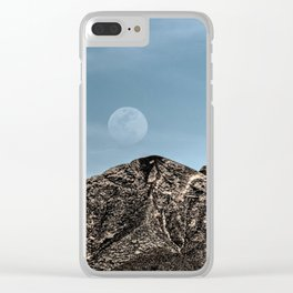 Moon over the Franklin Mountains Clear iPhone Case