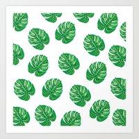Palm Leaf / Monstera Leaf Art Print
