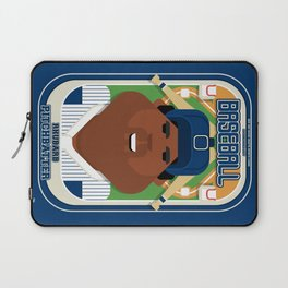 Baseball Blue Pinstripes - Rhubarb Pitchbatter - Hayes version Laptop Sleeve