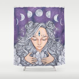Moon Child Shower Curtain