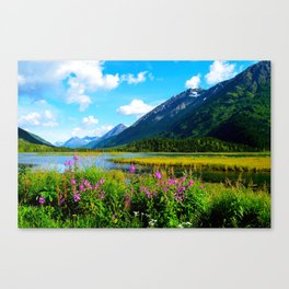 God's Country - Summer in Alaska Canvas Print