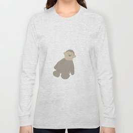 Ahh Ahh Monkey lovey Long Sleeve T-shirt