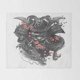 Sleeve tattoo Samurai Irezumi Throw Blanket