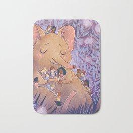 Elephant shrew pyjama party Bath Mat