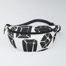 gemstone black and white Fanny Pack