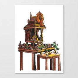 Bangkok : Spirit House Canvas Print