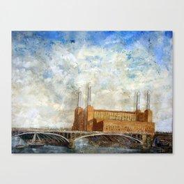 Battersea Power Station London January 2012 Canvas Print