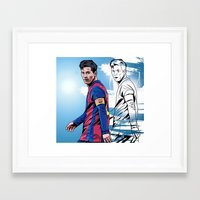 messi Framed Art Prints featuring Messi by FootyDezigns