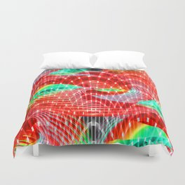 discharge pulse Duvet Cover