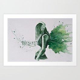 The inspiring music Art Print