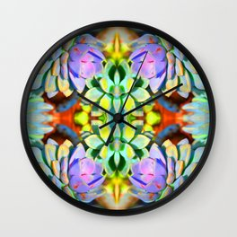 Succulent Color - Botanical Art by Sharon Cummings Wall Clock