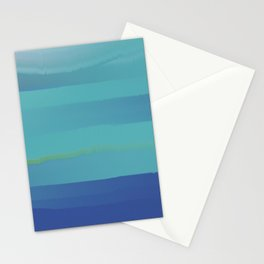 Impressions in Teal and Blue Stationery Cards