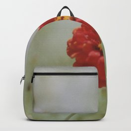Zinnia flower Backpack