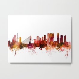 Rotterdam The Netherlands Skyline Metal Print