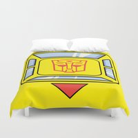 transformers Duvet Covers featuring Transformers - Bumblebee by CaptainLaserBeam