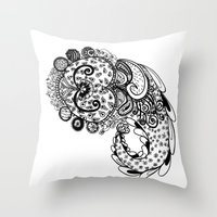 paisley Throw Pillows featuring Paisley by Flavia Caponi